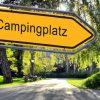Strassenschild 25 - Campingplatz